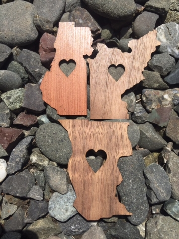 Northern California County Wooden Stickers