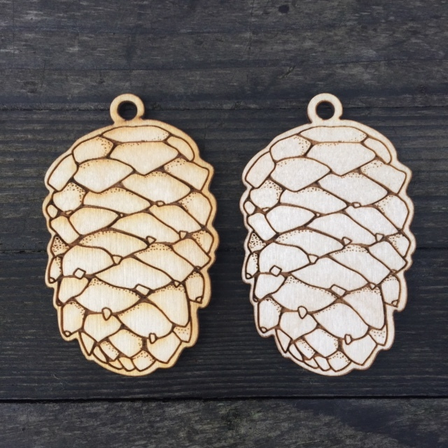 WoodLab Designs Baltic Birch Custom Ornament Designed by Pen and Pine
